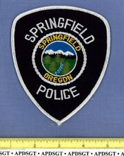 SPRINGFIELD OREGON Sheriff Police Patch CASCADE MOUNTAINS RIVER