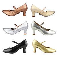 New Women Girl lady's Ballroom Tango Latin Dance Dancing Shoes heeled Salsa
