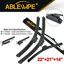 "ABLEWIPE 22""+21""+14"" Fit For Saturn SC SL SW 2002-1995 Wiper Blades (Set of 3)"