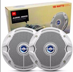 "JBL MS-6520 6"" Two-Way 180 Watt Coaxial Marine Speakers Brand NEW"