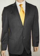 44R United Colors Benetton Blazer Mens 44 R Charcoal Twill Sport Coat Modern Fit