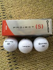 New TaylorMade Project (S) Golf Balls 3 Pack Low Compression Core *Free Shipping