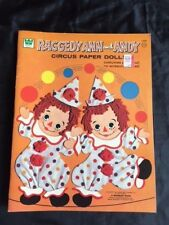 VINTAGE/UNCUT 1974 Raggedy Ann and Andy Circus Paper Dolls