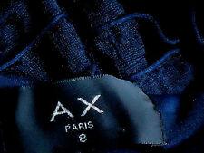 AX Paris TieredNavyNetSleevelessStretchMiniSize8EUC