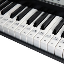 Music Keyboard or Piano Stickers Key Set Learn To Play Faster Clear Stickers CB