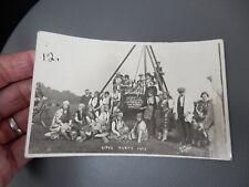 Gypsy Party Baildon ShipleyYorkshire 1929 photographic POSTCARD authentic  l