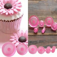 6Pcs Daisy Flower Form Fondant Cookie Cutters Mould Cake Decorating Baking Tools