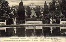 Potsdam Brandenburg AK 1906 Schloss Sanssouci Hohenzollern Terrassen Park Teich