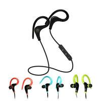 Casque Écouteur Sport Bluetooth Sans Fil Oreillette Stéréo 4.0 Écouteurs Crochet