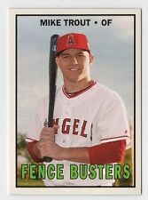 Mike Trout 2017 Topps TBT 1967 Fence Busters Design Angels #90