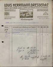 DRESDEN, Rechnung 1911, Fabrik für Horden, Siebe u. Gitter aus Draht L. Herrmann