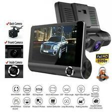 """4"""" HD 1080P coche DVR Cámara en Tablero de 3 Lentes vehículo Video Grabadora Cámara De Visión Trasera 170 °"""