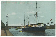 The Training Ship from the Embankment, London, 1912 postcard