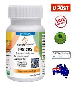 Probiotic Lactobacillus Gasseri 20 Billion CFU/gm Capsules - Immunity - AU Stock