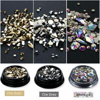 Flatback Glass Rhinestone Nails Crystals Charm 3D Nail Art Decoration Manicure