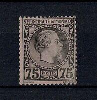 "MONACO STAMP TIMBRE N° 8 "" CHARLES III 75c NOIR SUR ROSE 1885 "" NEUF xx TB W077"