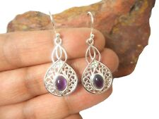 AMETHYST  Sterling  Silver  925  Gemstone  EARRINGS