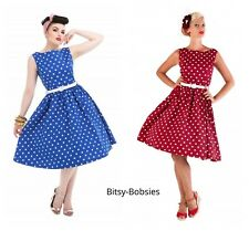 Lindy Bop Retro Vintage 50s Audrey Polkadot Spot Sleeveless Swing Dress 8-26