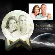 Personalised Photo Custom Moon Rechargable Touch Light Anniversary Birthday Gift