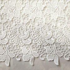 Off White Amaryllis Guipure Lace 100% Polyester 45 Inch wide Fabric By the Yard