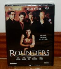 ROUNDERS-DVD-NUEVO-PRECINTADO-NEW-SEALED-DRAMA-THRILLER-MATT DAMON-EDWARD NORTON