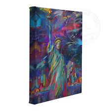Viva La Liberte by Artist Blend Cota 14 x 11 Gallery Wrapped Canvas