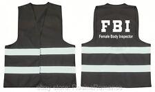 Chapeau Noir Deluxe Rembourré FBI COP costume robe fantaisie Adulte policier gilet