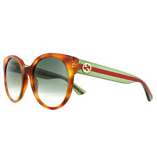 Gucci Sunglasses GG0035S 003 Tortoise Green Red Green Gradient