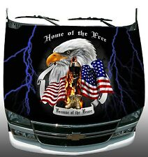 Soldier Freedom Home of Brave lightning Hood Wrap Sticker Vinyl Decal Graphic