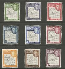 FALKLAND IS DEPENDENCIES SG G9-16 THE 1948 GVI THIN MAPS SET FINE MINT CAT.£100
