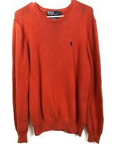 Polo Ralph Lauren Sweater Crewneck Knit Orange Mens Small