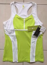 WOMEN'S PURELIME 3573 CROSS COURT RACERBACK TOP - LIME/WHITE - SIZE 10/12 *NEW*