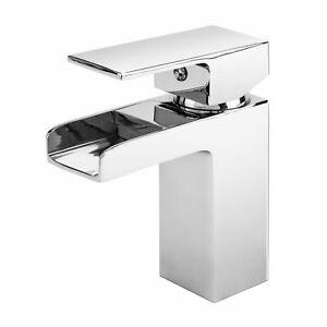 Havasu Waterfall Basin Mixer Tap, Chrome Modern Design Tap, Bathroom Sink Tap