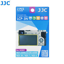 JJC 2PCS LCD Screen Protector Film for Sony A6500 A6400 A6300 A6000 A5100 A5000