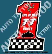 ISLE OF MAN TT RACES No 1 DECAL STICKER MOTORSPORT RALLY MOTORBIKE EDM STICKERS