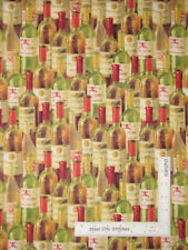 Vineyard Uncorked Wine Bottle Wine Allover Cotton Fabric Wilmington By The Yard