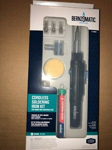 Bernzomatic ST550K Black Cordless Soldering Iron and Micro Torch Kit