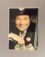 Reg Varney On The Buses Rare Signed Autograph mounted