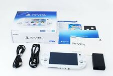 Sony PS Vita White Slim PCH-2000 w/ Charger + Box From Japan [Excellent+]