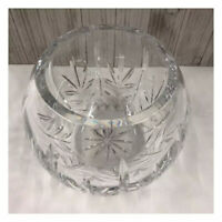 """Crystal Clear Glass Bowl Elegant Ornamental Decorative """"Super Heavy"""" Container"""