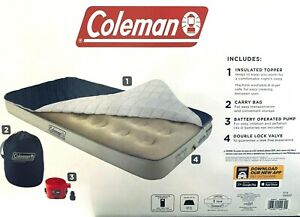 Coleman Twin Air Mattress w/Removable Insulated Topper, Pump and Carry Bag NIB