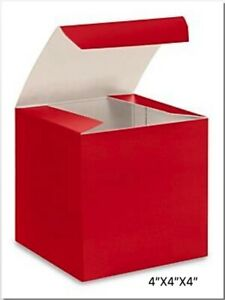 Gloss RED Chipboard Gift Packaging Box Choose Size and Package Amount