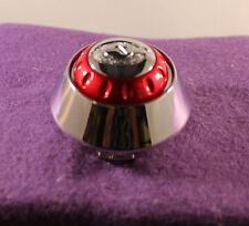 QUANTUM TEK CHROME & RED Wheel Center Cap (Set of 1)