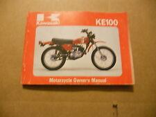 Kawasaki Owners Manual 1981 KE100A10 KE100 A10