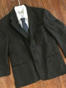 LL Bean Wool Tweed Thinsulate Insulated Blazer Sport Coat Suit Jacket Large Tall