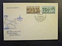 Germany DDR SC# 208 / 209 1954 FDC / Unaddressed / Cacheted - Z4533