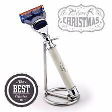 Premium Set Gillette Fusion razor & Steel STAND Men's esigenze da barba regalo per lui