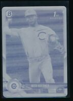 NICO HOERNER 2018 Bowman Draft YELLOW PRINTING PLATE #1/1 Cubs Rookie Card RC