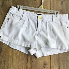 Southpole Jeans Co Size 13 Ladies White Embellished Shorts