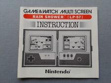 NINTENDO GAME&WATCH MULTISCREEN RAIN SHOWER LP-57 ORIGINAL INSTRUCTION MANUAL